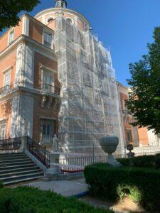 Fingido de ladrillo esgrafiado Palacio de Aranjuez